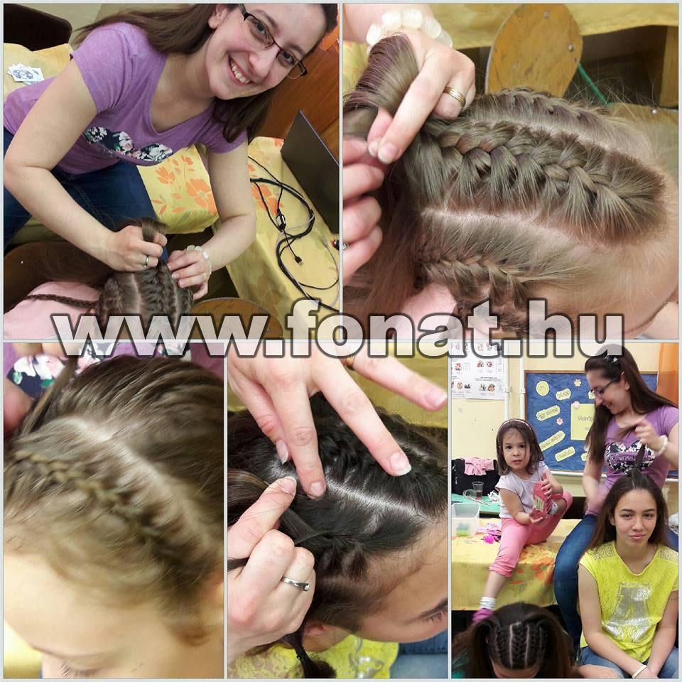 hajfonás készítése, fonat, fonások, hajszobrászat, fodrászat, fonásdivat, divatos
